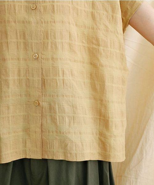 merlot(メルロー)/【IKYU】オーバーシルエットチェック織り柄シャツ/00010012-939230143077_img06
