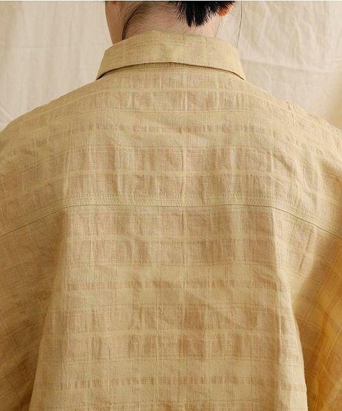 merlot(メルロー)/【IKYU】オーバーシルエットチェック織り柄シャツ/00010012-939230143077_img07