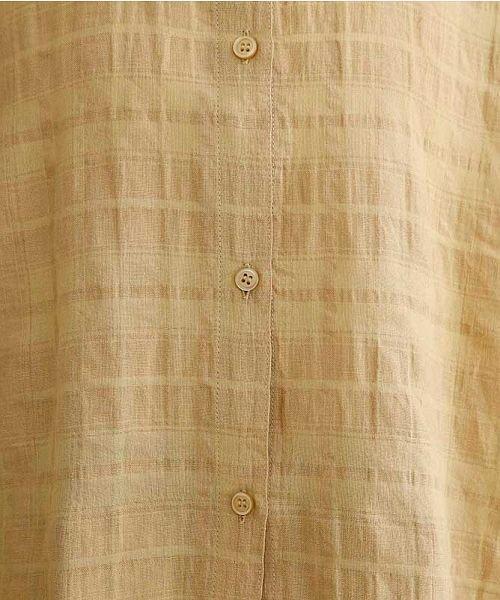 merlot(メルロー)/【IKYU】オーバーシルエットチェック織り柄シャツ/00010012-939230143077_img09