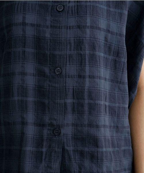merlot(メルロー)/【IKYU】オーバーシルエットチェック織り柄シャツ/00010012-939230143077_img10