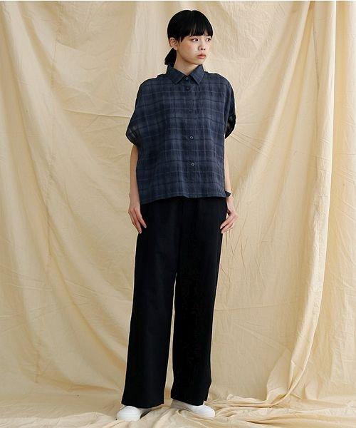 merlot(メルロー)/【IKYU】オーバーシルエットチェック織り柄シャツ/00010012-939230143077_img12