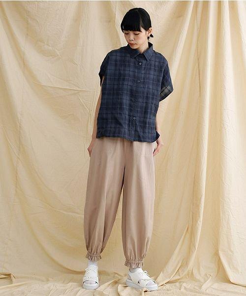 merlot(メルロー)/【IKYU】オーバーシルエットチェック織り柄シャツ/00010012-939230143077_img13
