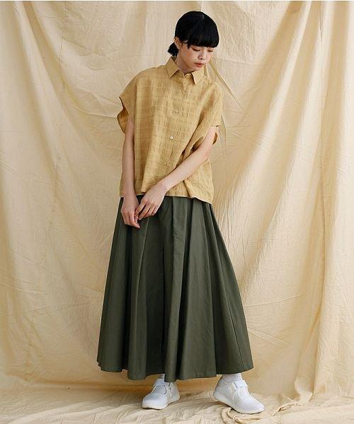 merlot(メルロー)/【IKYU】オーバーシルエットチェック織り柄シャツ/00010012-939230143077_img15