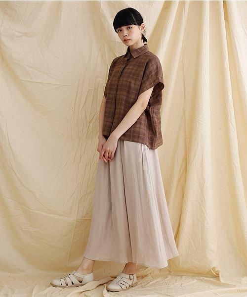 merlot(メルロー)/【IKYU】オーバーシルエットチェック織り柄シャツ/00010012-939230143077_img16
