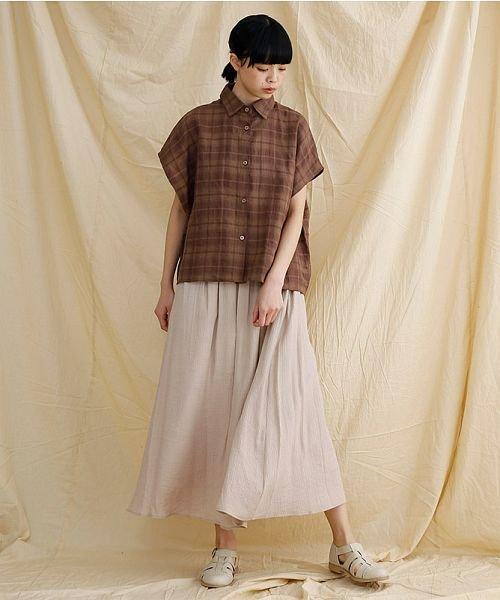 merlot(メルロー)/【IKYU】オーバーシルエットチェック織り柄シャツ/00010012-939230143077_img17