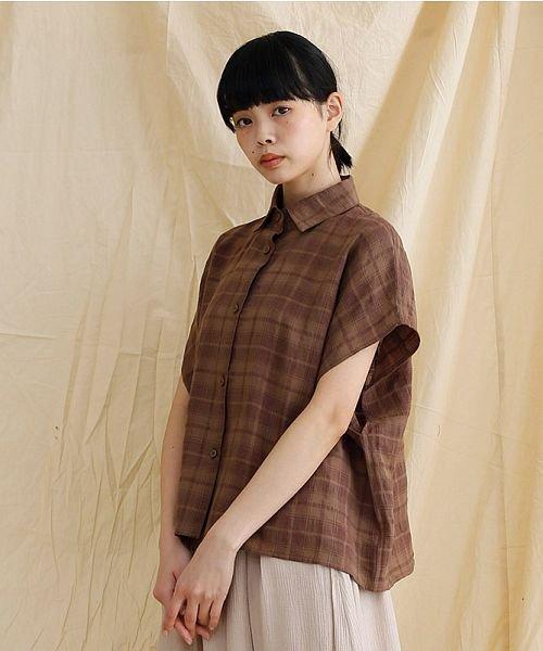 merlot(メルロー)/【IKYU】オーバーシルエットチェック織り柄シャツ/00010012-939230143077_img18