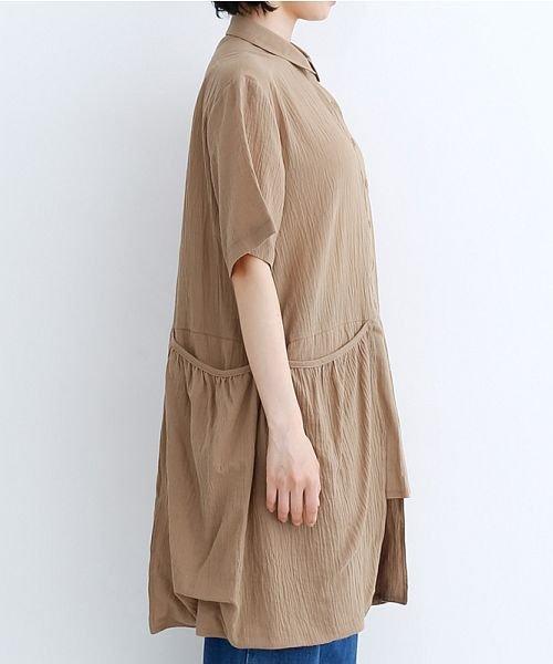 merlot(メルロー)/【IKYU】バックベンツギャザーポケットシャツ/00010012-939230143100_img02