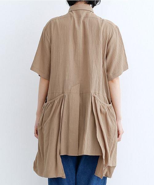 merlot(メルロー)/【IKYU】バックベンツギャザーポケットシャツ/00010012-939230143100_img03