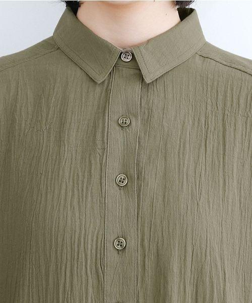merlot(メルロー)/【IKYU】バックベンツギャザーポケットシャツ/00010012-939230143100_img04