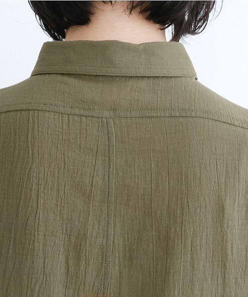 merlot(メルロー)/【IKYU】バックベンツギャザーポケットシャツ/00010012-939230143100_img08
