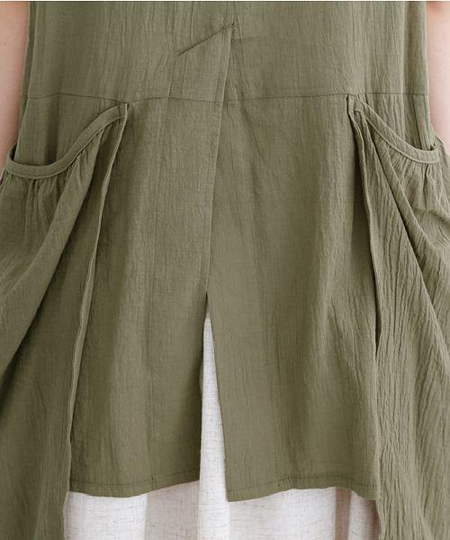 merlot(メルロー)/【IKYU】バックベンツギャザーポケットシャツ/00010012-939230143100_img09