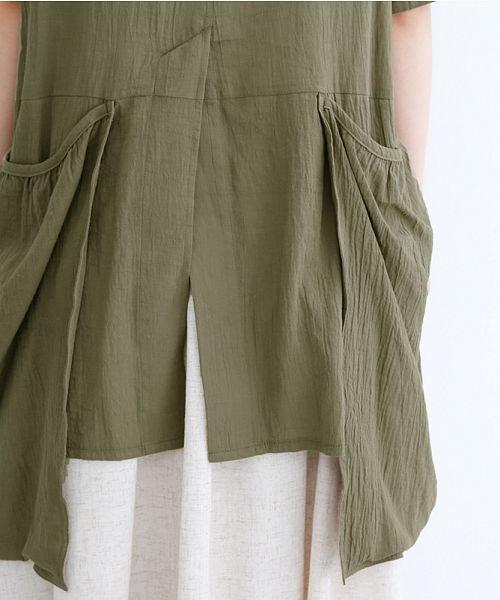 merlot(メルロー)/【IKYU】バックベンツギャザーポケットシャツ/00010012-939230143100_img10