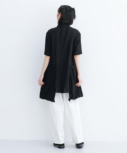 merlot(メルロー)/【IKYU】バックベンツギャザーポケットシャツ/00010012-939230143100_img11