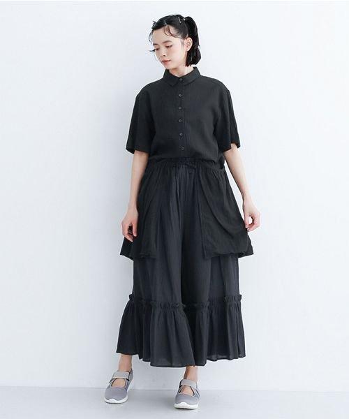 merlot(メルロー)/【IKYU】バックベンツギャザーポケットシャツ/00010012-939230143100_img13