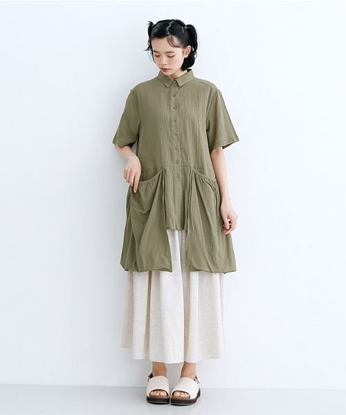 merlot(メルロー)/【IKYU】バックベンツギャザーポケットシャツ/00010012-939230143100_img14