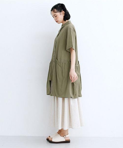 merlot(メルロー)/【IKYU】バックベンツギャザーポケットシャツ/00010012-939230143100_img15