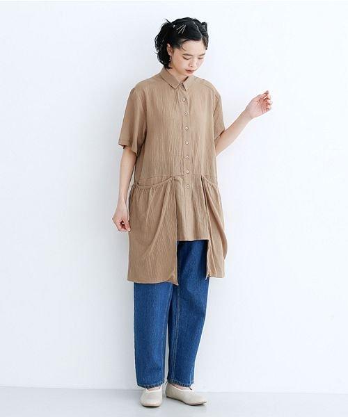 merlot(メルロー)/【IKYU】バックベンツギャザーポケットシャツ/00010012-939230143100_img17