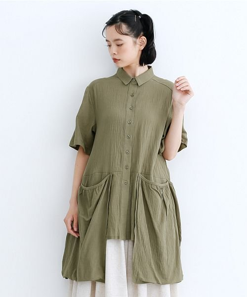 merlot(メルロー)/【IKYU】バックベンツギャザーポケットシャツ/00010012-939230143100_img18