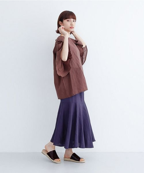 merlot(メルロー)/レーヨンリネンマーメイドスカート/00010012-939230152911_img11
