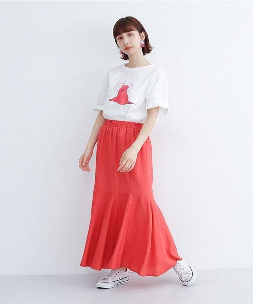 merlot(メルロー)/レーヨンリネンマーメイドスカート/00010012-939230152911_img15