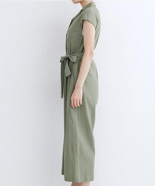 merlot(メルロー)/リネンミックス開襟ジャンプスーツ/00010012-939230152964_img02