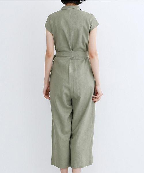 merlot(メルロー)/リネンミックス開襟ジャンプスーツ/00010012-939230152964_img03
