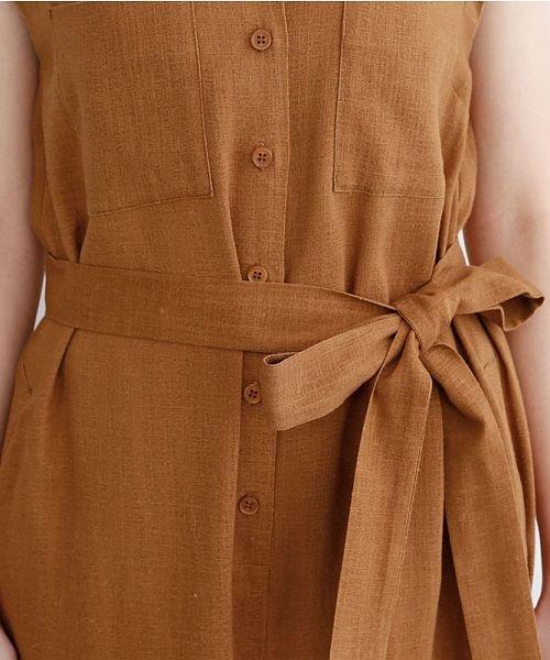 merlot(メルロー)/リネンミックス開襟ジャンプスーツ/00010012-939230152964_img06