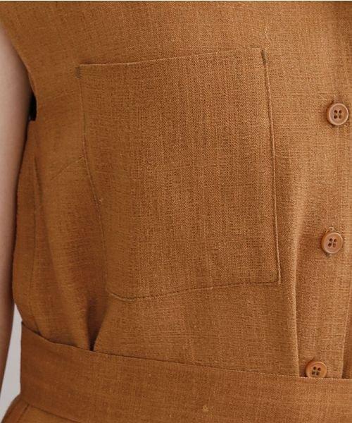 merlot(メルロー)/リネンミックス開襟ジャンプスーツ/00010012-939230152964_img07