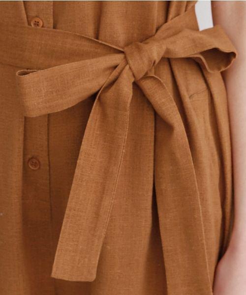 merlot(メルロー)/リネンミックス開襟ジャンプスーツ/00010012-939230152964_img08