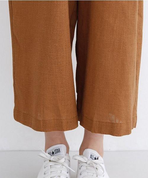 merlot(メルロー)/リネンミックス開襟ジャンプスーツ/00010012-939230152964_img09