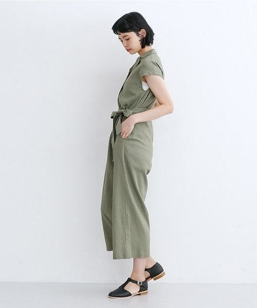 merlot(メルロー)/リネンミックス開襟ジャンプスーツ/00010012-939230152964_img15