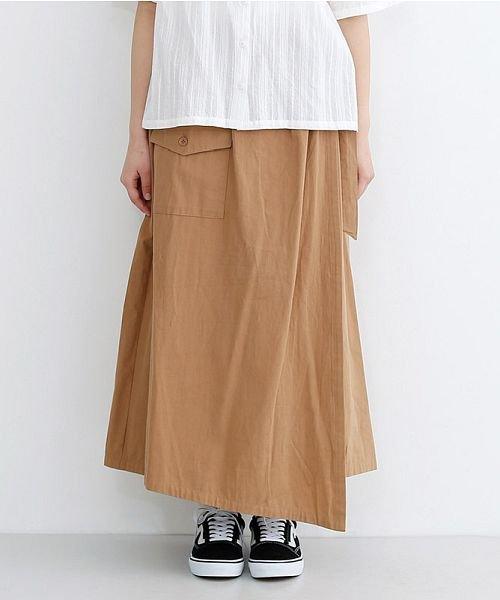 merlot(メルロー)/ビッグポケットサロンスカート/00010012-939230202915_img01