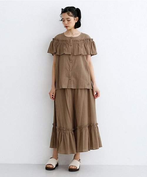 merlot(メルロー)/【IKYU】フリルノースリーブブラウス/00010012-939270063076_img15