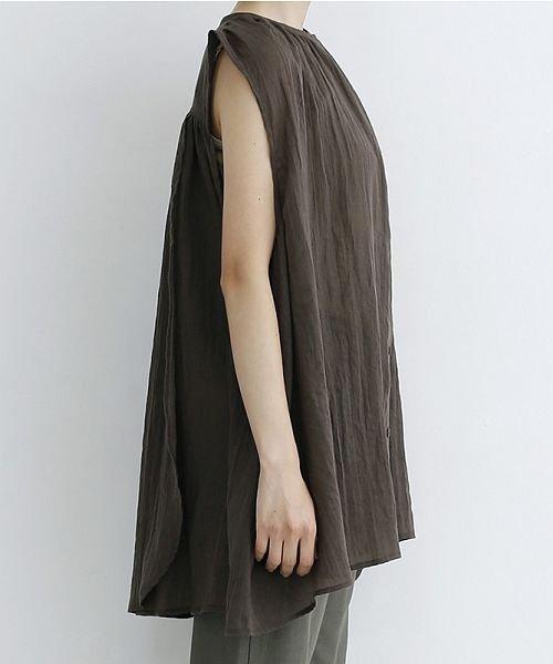 merlot(メルロー)/【IKYU】ギャザーノースリシャツ/00010012-939270063185_img02