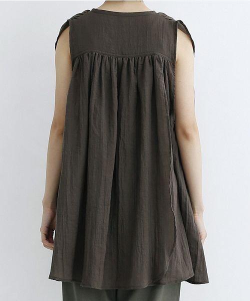 merlot(メルロー)/【IKYU】ギャザーノースリシャツ/00010012-939270063185_img03