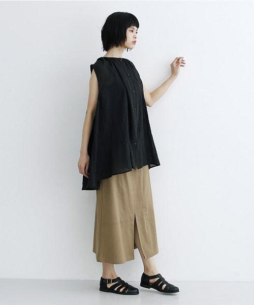merlot(メルロー)/【IKYU】ギャザーノースリシャツ/00010012-939270063185_img10