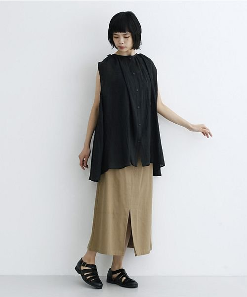 merlot(メルロー)/【IKYU】ギャザーノースリシャツ/00010012-939270063185_img11