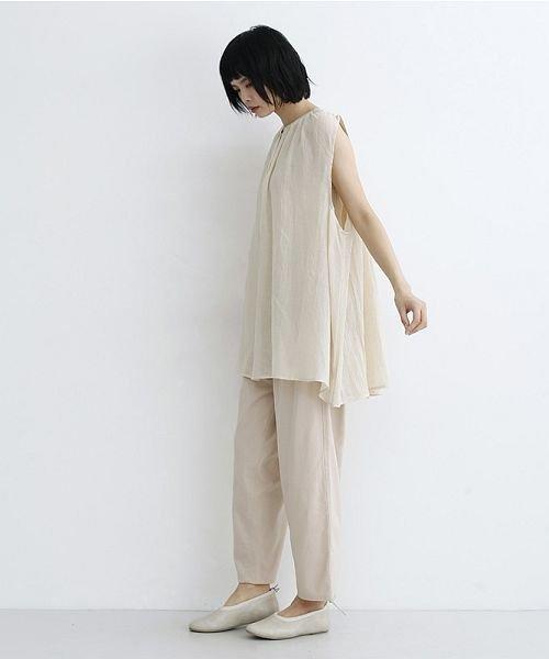 merlot(メルロー)/【IKYU】ギャザーノースリシャツ/00010012-939270063185_img12