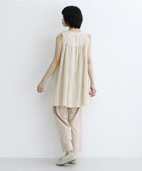 merlot(メルロー)/【IKYU】ギャザーノースリシャツ/00010012-939270063185_img13