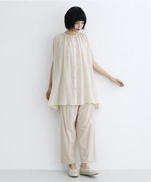 merlot(メルロー)/【IKYU】ギャザーノースリシャツ/00010012-939270063185_img14