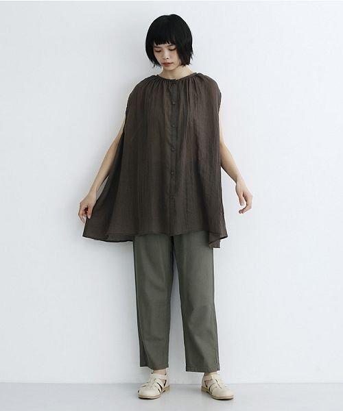 merlot(メルロー)/【IKYU】ギャザーノースリシャツ/00010012-939270063185_img15