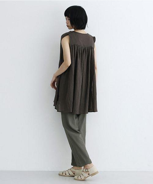 merlot(メルロー)/【IKYU】ギャザーノースリシャツ/00010012-939270063185_img16