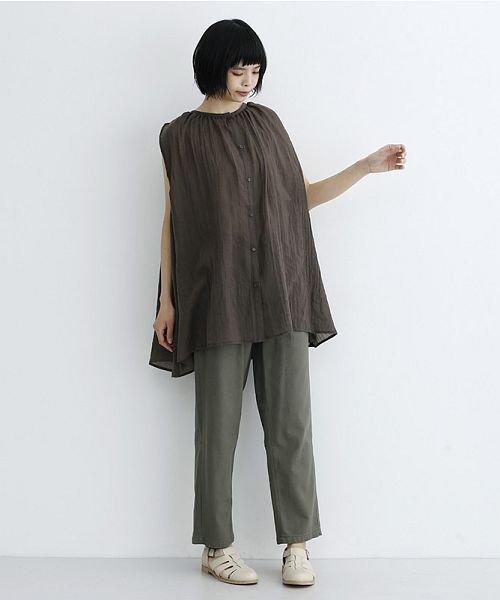merlot(メルロー)/【IKYU】ギャザーノースリシャツ/00010012-939270063185_img17