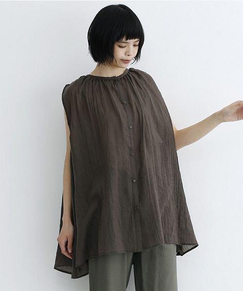 merlot(メルロー)/【IKYU】ギャザーノースリシャツ/00010012-939270063185_img18