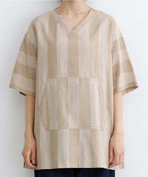 merlot(メルロー)/【IKYU】ストライププルオーバーシャツ/00010012-939670063174_img01