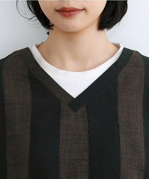 merlot(メルロー)/【IKYU】ストライププルオーバーシャツ/00010012-939670063174_img04
