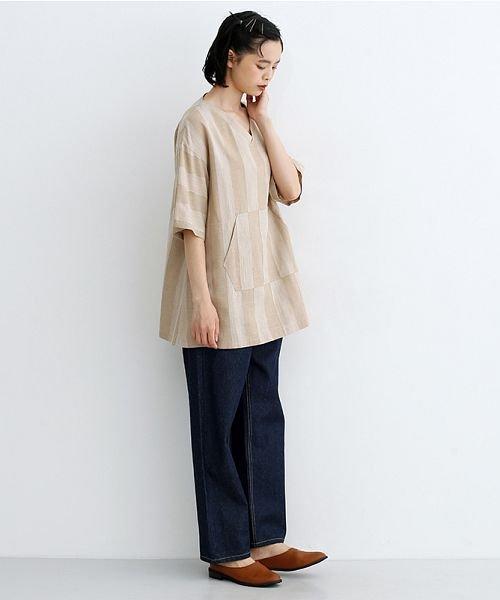 merlot(メルロー)/【IKYU】ストライププルオーバーシャツ/00010012-939670063174_img15