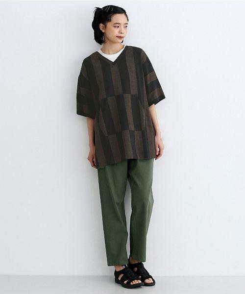 merlot(メルロー)/【IKYU】ストライププルオーバーシャツ/00010012-939670063174_img16