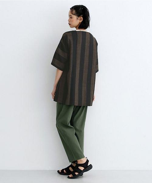 merlot(メルロー)/【IKYU】ストライププルオーバーシャツ/00010012-939670063174_img17