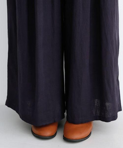 merlot(メルロー)/【IKYU】コットンリネンダブルタックイージーワイドパンツ/00010012-939670063187_img05